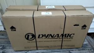This is how Dynamic Bicycles' bikes arrive.