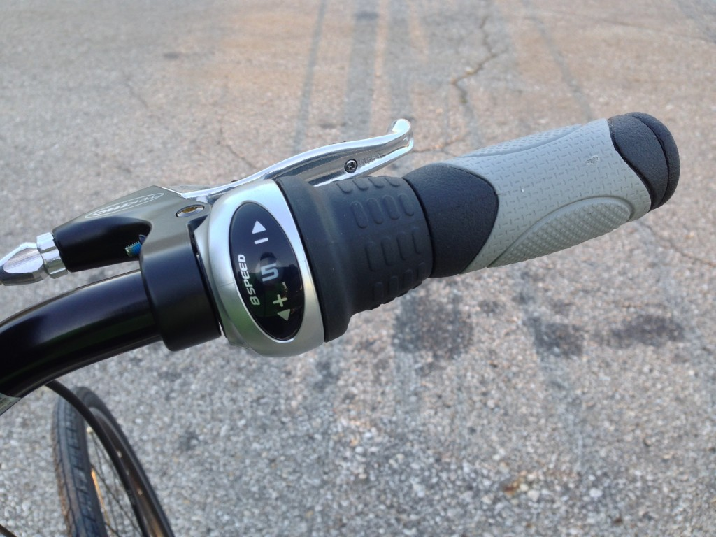 Shimano twist shifter (8-speed).